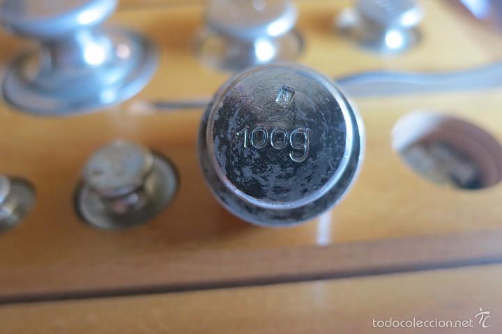 Antigüedades: caja de pesas calibradas - Foto 4 - 56115171