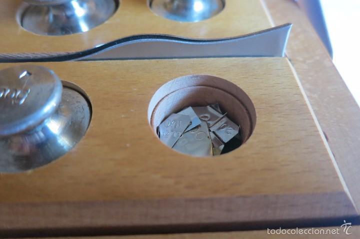 Antigüedades: caja de pesas calibradas - Foto 5 - 56115171