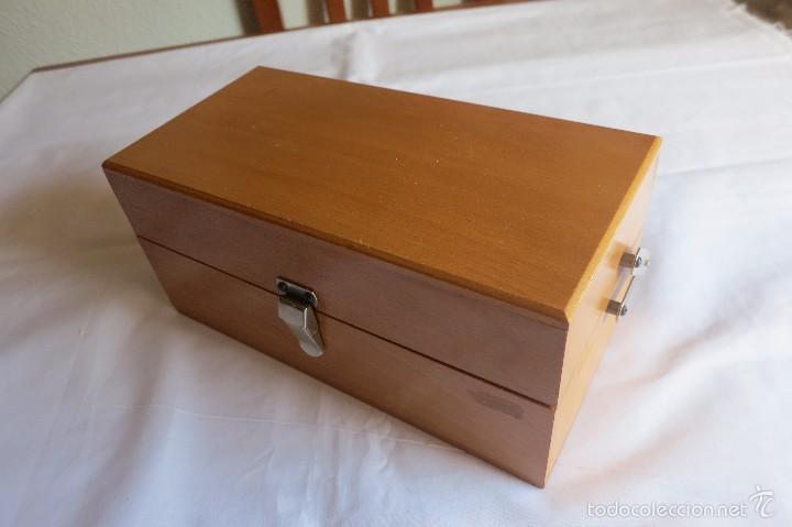 Antigüedades: caja de pesas calibradas - Foto 6 - 56115171