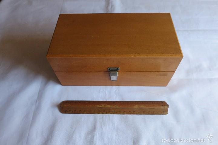 Antigüedades: caja de pesas calibradas - Foto 8 - 56115171