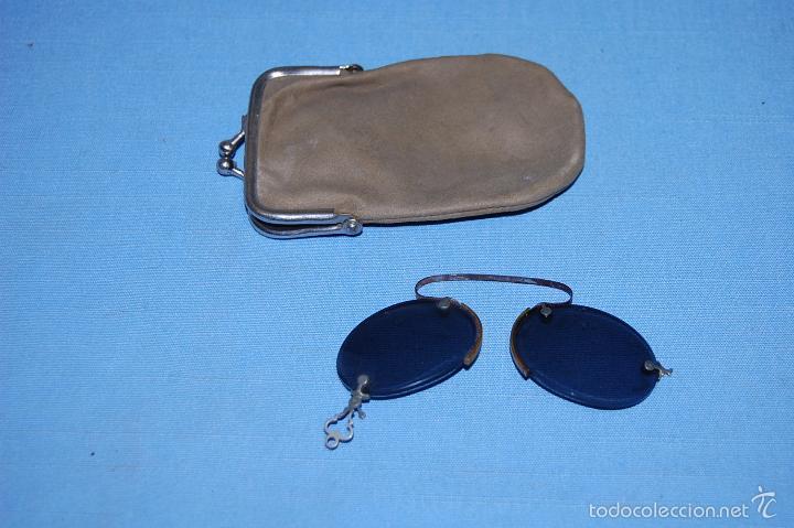 ANTIGUAS GAFAS CON ESTUCHE ORIGINAL (Antigüedades - Técnicas - Instrumentos Ópticos - Gafas Antiguas)