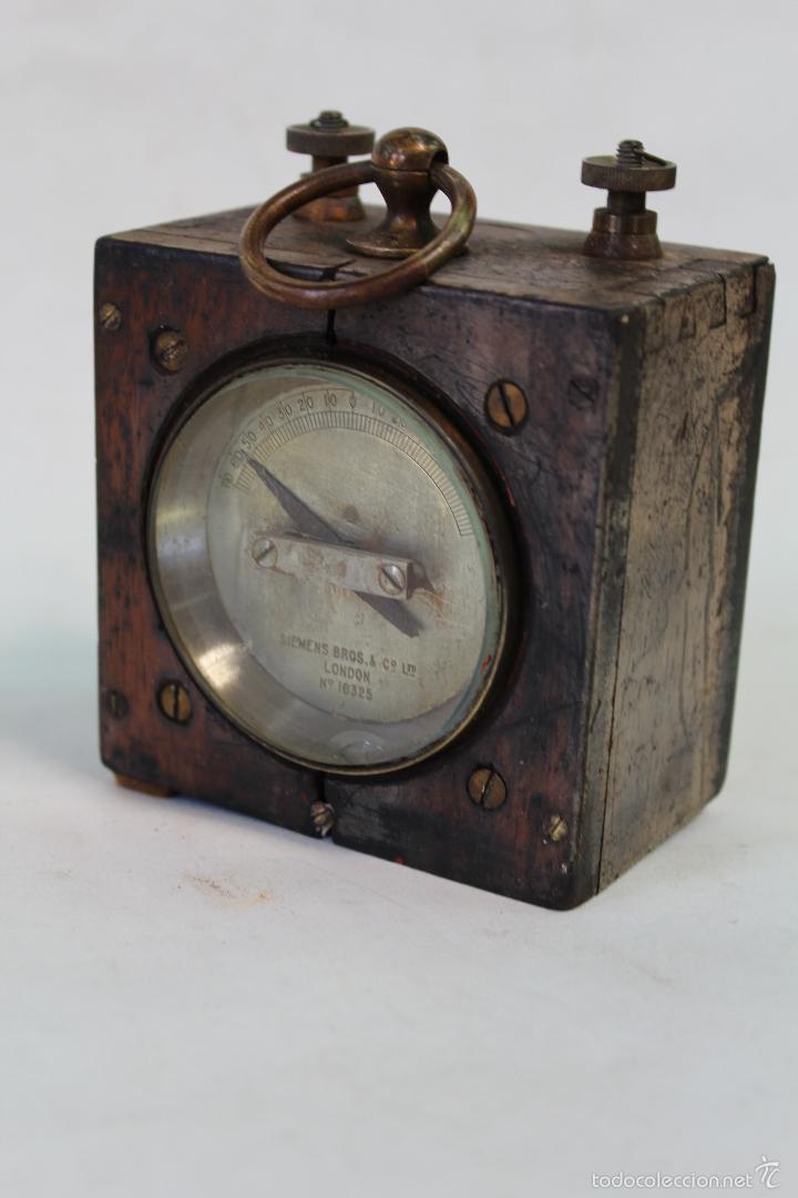 Antigüedades: conmutador electrico antiguo siemens bros & cº ltd.london nº16325 - Foto 4 - 56132497