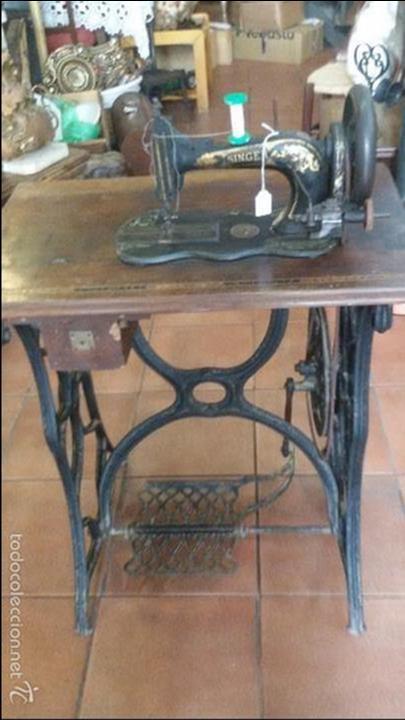 Antigüedades: ANTIGUA JOYA) DE LAS PRIMERAS AÑO 1857 Nº 07058 DE MUSEO FUNCIONANDO SINGER VIOLIN MAQUINA COSER - Foto 10 - 56145751