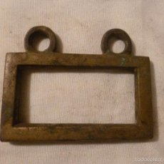 Antigüedades: ASA DE BRASERO DE BRONCE. Lote 56195806