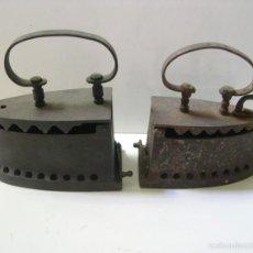 Antigüedades: LOTE DE 2 PLANCHAS DE CARBON. Lote 56237862