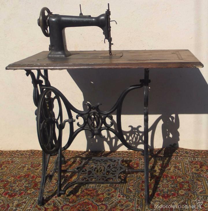 MAQUINA DE COSER WERTHEIM, EUA, 1865 CON GNOMOS (Antigüedades - Técnicas - Máquinas de Coser Antiguas - Wertheim )
