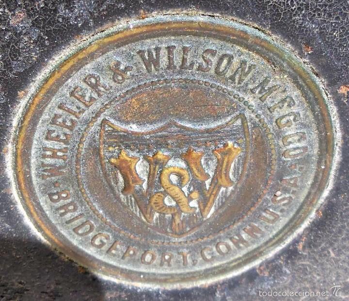 Antigüedades: MAQUINA DE COSER WERTHEIM, EUA, 1865 CON GNOMOS - Foto 2 - 56245778