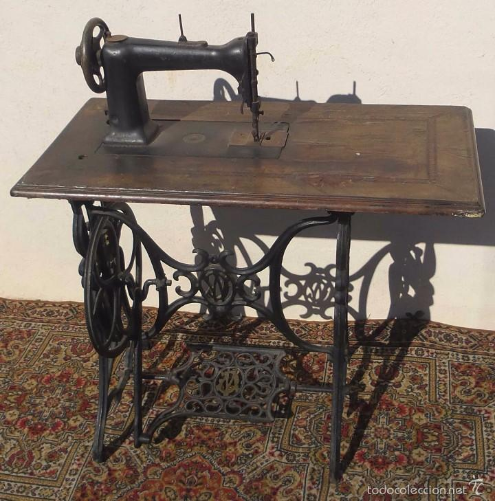 Antigüedades: MAQUINA DE COSER WERTHEIM, EUA, 1865 CON GNOMOS - Foto 6 - 56245778