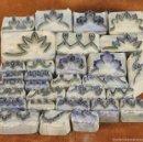 Antigüedades: SET DE 30 TAMPONES. CENEFAS EN METAL. BASE EN MADERA. SIGLO XIX.. Lote 56256435