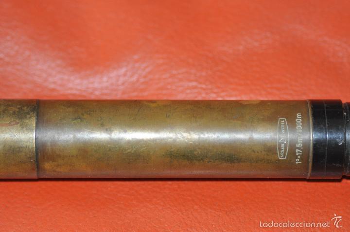 Antigüedades: MOLLER WEDEL 17,5 M. / 1000 M. ANTIGUA LENTE COMPONENTE DE BRONCE QUIZAS MILITAR - Foto 4 - 56280719