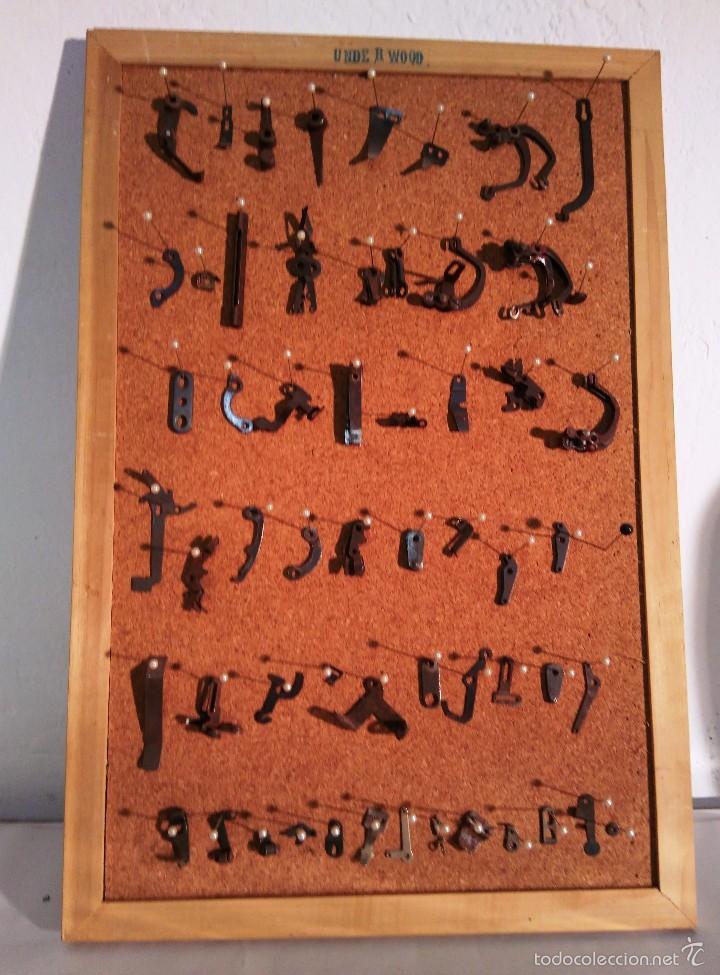 LOTE DE PIEZAS DE MÁQUINA DE ESCRIBIR UNDERWOOD - LAS QUE SE VEN EN LAS FOTOS (Antigüedades - Técnicas - Máquinas de Escribir Antiguas - Underwood)