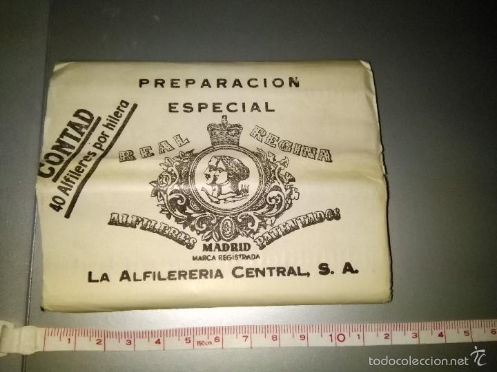 PAQUETE DE ALFILERES AÑOS 50 (Antigüedades - Técnicas - Herramientas Antiguas - Otras profesiones)