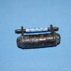 Antigüedades: CANDADO EN METAL CILINDRO CHINO. Lote 56297353