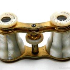 Antigüedades: PRISMÁTICOS DE TEATRO DEL S.XIX EN NÁCAR Y LATÓN, EN BUEN ESTADO. BARCELONA. Lote 56337823