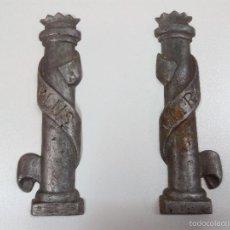 Antigüedades: ANTIGUOS MOLDES DE FUNDICION . COLUMNAS PLUS - ULTRA. Lote 56364594