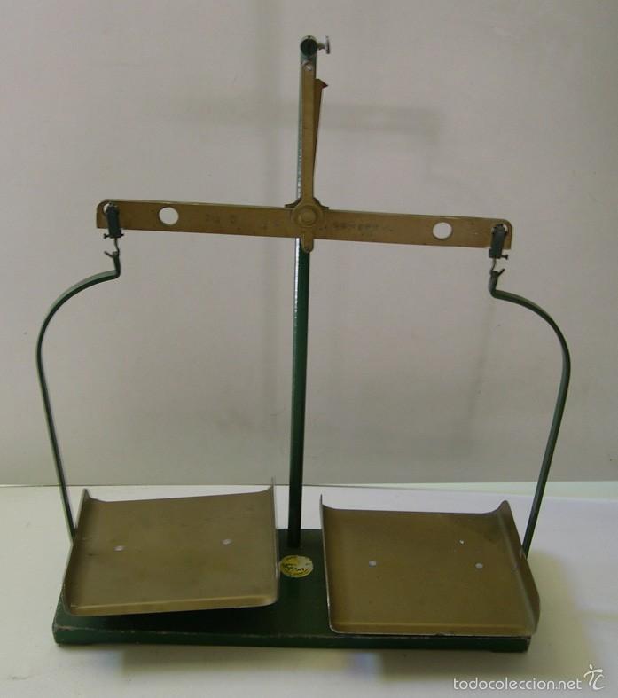 BALANZA DE HIERRO Y BRONCE. (Antigüedades - Técnicas - Medidas de Peso - Balanzas Antiguas)