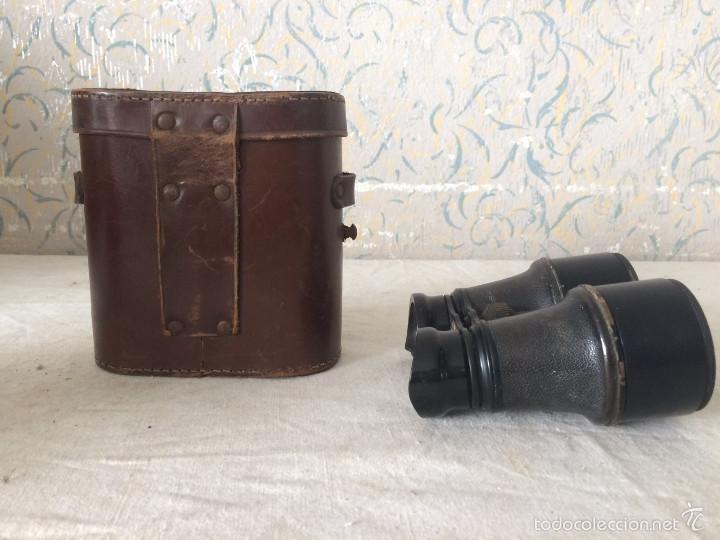 Antigüedades: ANTIGUOS PRISMÁTICOS CON FUNDA DE PIEL - Foto 5 - 56392396