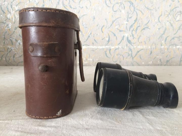 Antigüedades: ANTIGUOS PRISMÁTICOS CON FUNDA DE PIEL - Foto 6 - 56392396