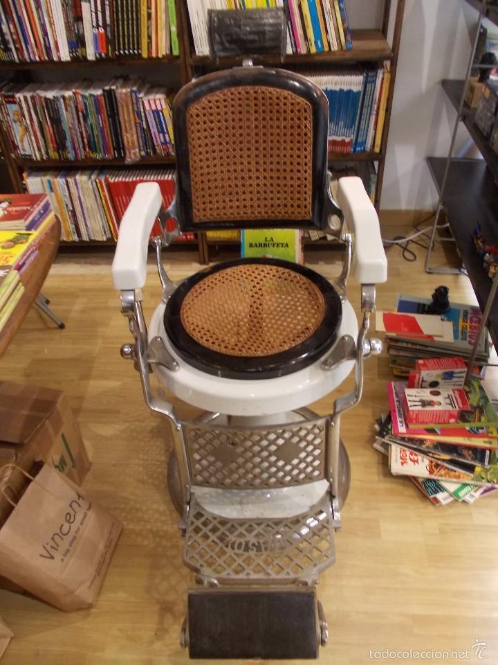 Sillon silla de barberia original marca acha comprar for Sillas para barberia