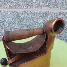 Antigüedades: ANTIGUA Y FABULOSA PLANCHA DE CHIMENEA EN COBRE. U.S.A. - ARCHIBALD KENRICK SONS WEST BROMWICH. Lote 56398503