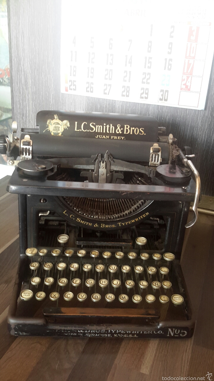 MÁQUINA DE ESCRIBIR (Antigüedades - Técnicas - Máquinas de Escribir Antiguas - Smith)
