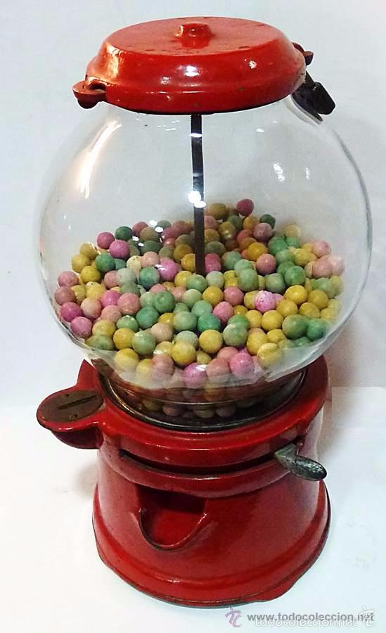 Antigüedades: Gum ball bank- máquina expendedora de mostrador de chicles o caramelos -años 40- 100% original - Foto 10 - 54791014