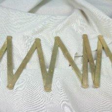 Antigüedades: METRO PLEGABLE EN CMS DE 1 M Y PULGADAS. S.XIX. Lote 56473430