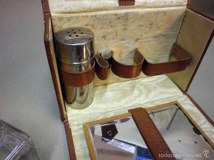 Antigüedades: ANTIGUO NECESER DE VIAJE, DE AFEITADO, PARA HOMBRE, ESTUCHE EN PIEL, VINTAGE, 1950s - Foto 12 - 56474446