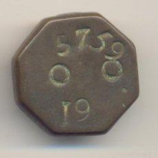 Antigüedades: ANTIGUA PESA O PONDERAL SIGLO XIX MALLORCA TIPO OCTOGONAL PESO: 66,1 GRAMOS.. Lote 56502129