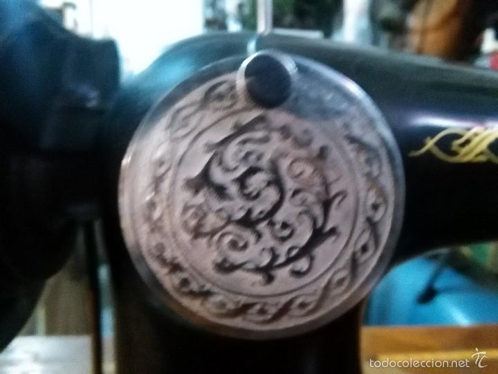 Antigüedades: maquina de coser alfa con pie - Foto 9 - 56538741
