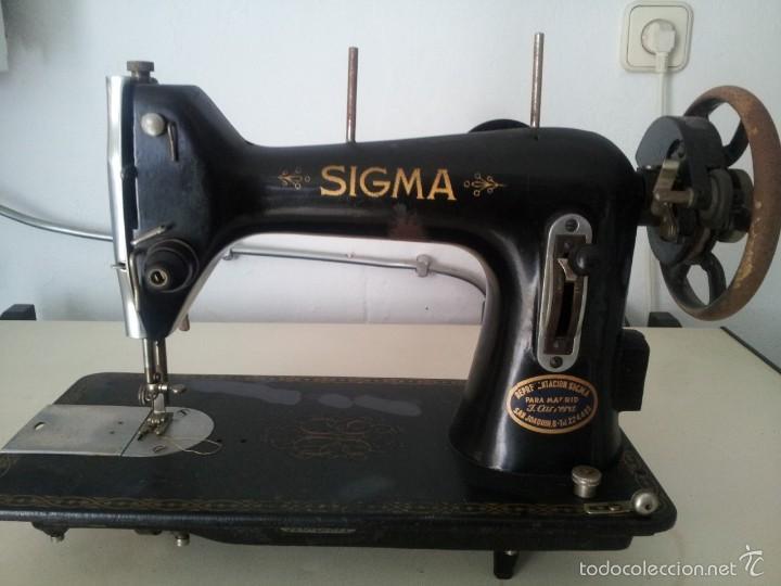 CABEZA DE MAQUINA DE COSER SIGMA (Antigüedades - Técnicas - Máquinas de Coser Antiguas - Sigma)