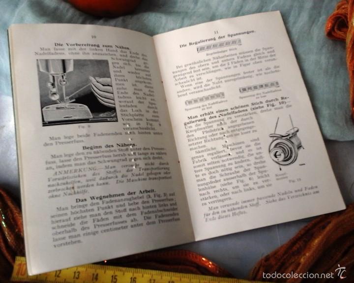 Antigüedades: MANUAL AÑOS 30 MÁQUINA COSER SINGER MODELO Nº 15 (EN ALEMÁN): - Foto 2 - 56615914