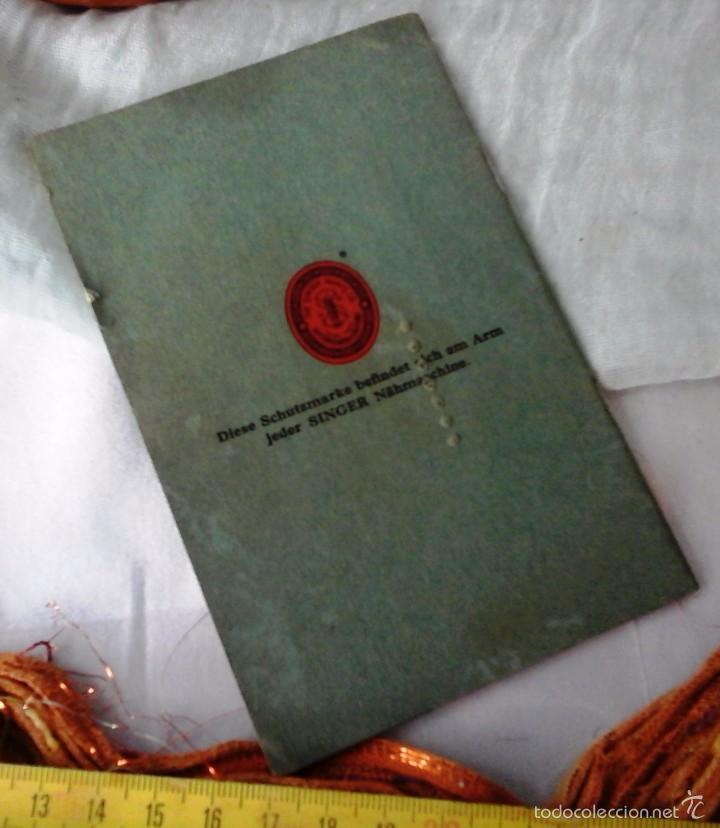 Antigüedades: MANUAL AÑOS 30 MÁQUINA COSER SINGER MODELO Nº 15 (EN ALEMÁN): - Foto 3 - 56615914