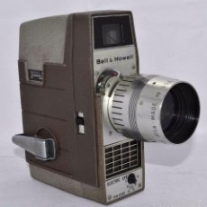 Antigüedades: RAREZA,,CAMARA DE CINE A CUERDA 8 MM...BELL HOWELL ELECTRIC EYE..USA 1959..MUY BUEN ESTADO..FUNCIONA. Lote 56619111