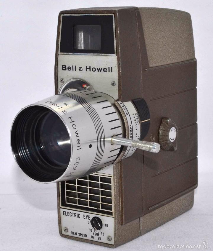Antigüedades: RAREZA,,CAMARA DE CINE A CUERDA 8 MM...BELL HOWELL ELECTRIC EYE..USA 1959..MUY BUEN ESTADO..FUNCIONA - Foto 4 - 56619111