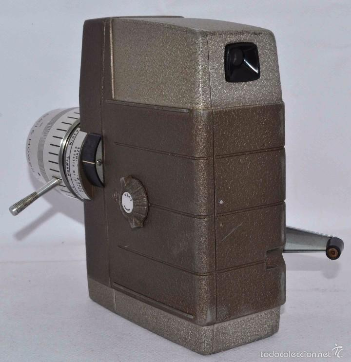 Antigüedades: RAREZA,,CAMARA DE CINE A CUERDA 8 MM...BELL HOWELL ELECTRIC EYE..USA 1959..MUY BUEN ESTADO..FUNCIONA - Foto 6 - 56619111