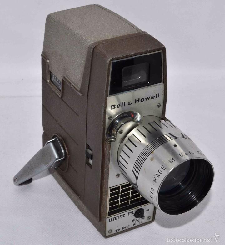Antigüedades: RAREZA,,CAMARA DE CINE A CUERDA 8 MM...BELL HOWELL ELECTRIC EYE..USA 1959..MUY BUEN ESTADO..FUNCIONA - Foto 9 - 56619111