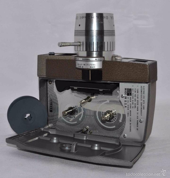 Antigüedades: RAREZA,,CAMARA DE CINE A CUERDA 8 MM...BELL HOWELL ELECTRIC EYE..USA 1959..MUY BUEN ESTADO..FUNCIONA - Foto 14 - 56619111