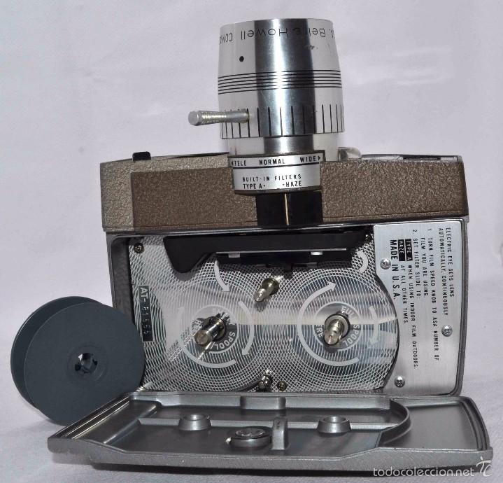 Antigüedades: RAREZA,,CAMARA DE CINE A CUERDA 8 MM...BELL HOWELL ELECTRIC EYE..USA 1959..MUY BUEN ESTADO..FUNCIONA - Foto 15 - 56619111
