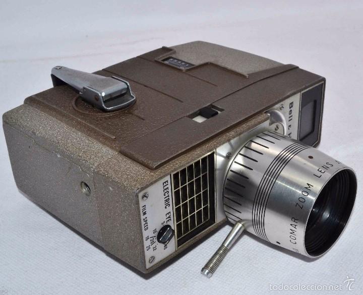 Antigüedades: RAREZA,,CAMARA DE CINE A CUERDA 8 MM...BELL HOWELL ELECTRIC EYE..USA 1959..MUY BUEN ESTADO..FUNCIONA - Foto 21 - 56619111