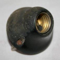 Antigüedades: ANTIGUA PORTALAMPARAS DE BAQUELITA, CASQUILLO . Lote 56619885