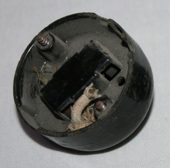 antigedades bonita llave antigua de baquelita o interruptor negro de luz simon foto