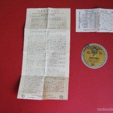Antigüedades: BABYTEST - CALENDARIO DE FECUNDIDAD - LABORATORIOS CASEN - EMBARAZO - AÑOS 50. Lote 56646448