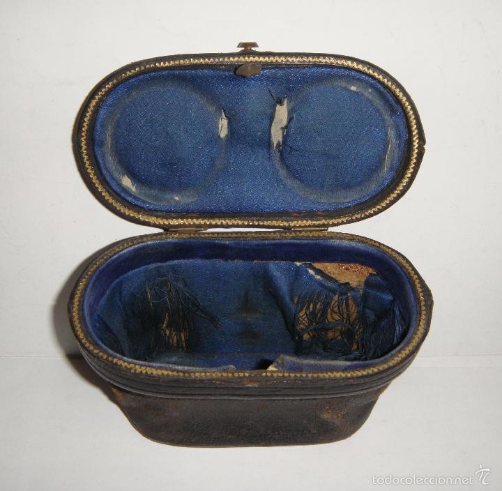 Antigüedades: Bonitos Prismaticos Antiguos (CHEVALIER OPTICIEN - PARIS), con funda de piel - Foto 3 - 37590496