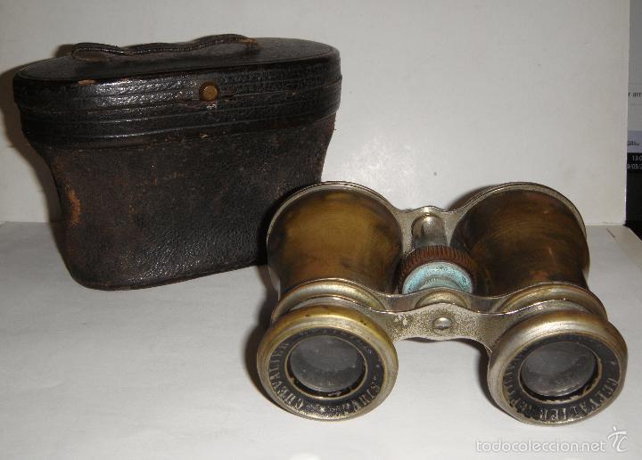 Antigüedades: Bonitos Prismaticos Antiguos (CHEVALIER OPTICIEN - PARIS), con funda de piel - Foto 5 - 37590496