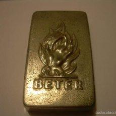 Antigüedades: ESTUCHE METALICO PARA HOJAS DE AFEITAR.....,BETER.. Lote 56697922
