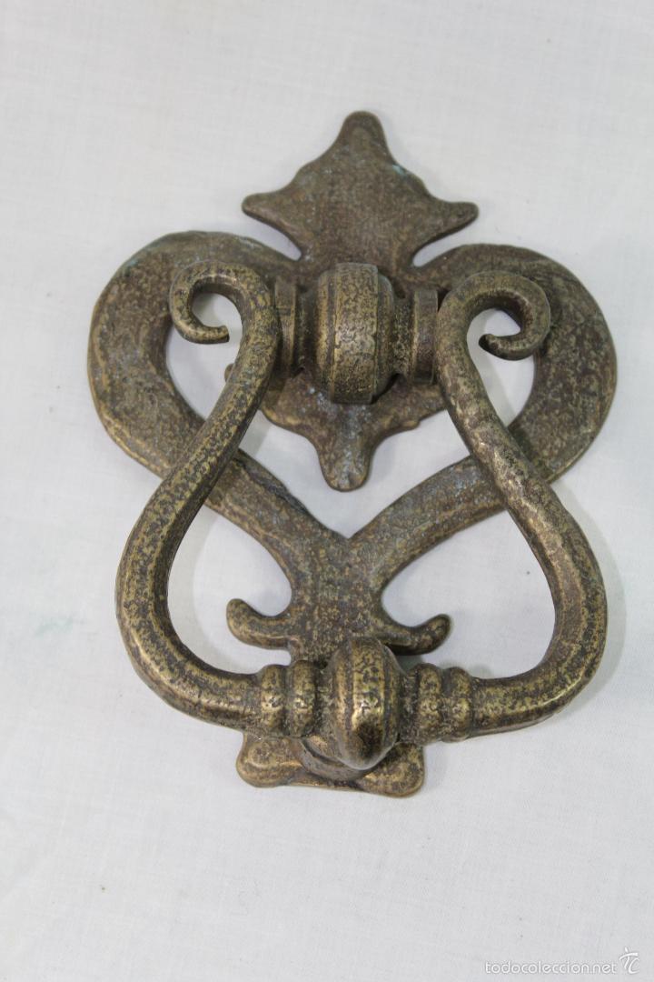 LLAMADOR EN BRONCE (Antigüedades - Técnicas - Cerrajería y Forja - Llamadores Antiguos)