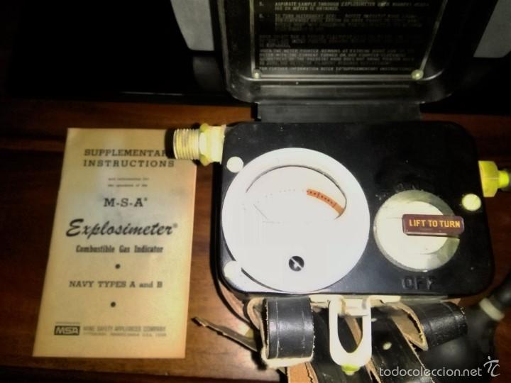 Antigüedades: comprobador nivel de grisu minero, mineria, explosimetro. - Foto 7 - 150691496