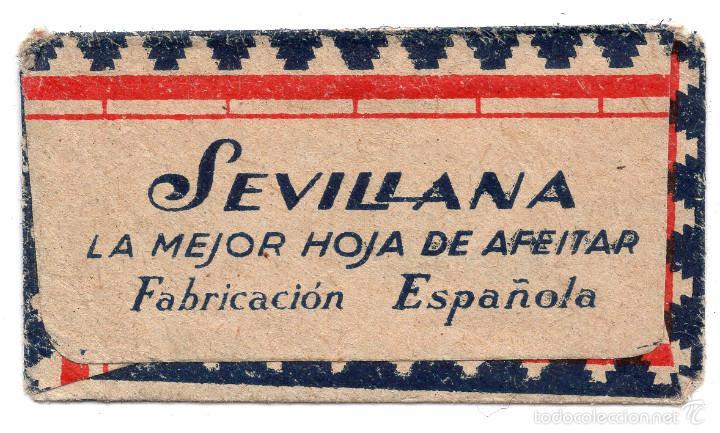 Antigüedades: HOJA DE AFEITAR. SEVILLANA ACANALADA. ESPAÑOLA. FABRICADO POR BASSAT - Foto 2 - 56735581