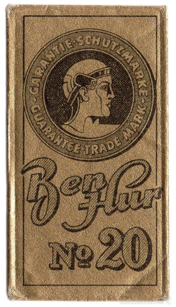 HOJA DE AFEITAR CON FUNDA - ESPAÑOLA - BEN-HUR Nº 20 - JUAN VOLLMER S.A. (Antigüedades - Técnicas - Barbería - Hojas de Afeitar Antiguas)